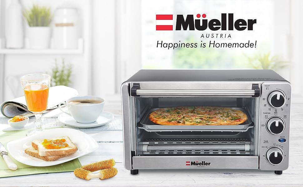 Amazon.com: Mueller Austria - Juego de 4 bandejas para horno ...