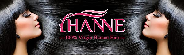 HANNE Human Hair Extensions Brazilian Virgin Human Hair Bundles Body Wave Hair with Lace Closure