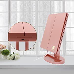 Battery or USB operated, long-lasting vanity mirror suitable for every women's needs.