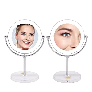 makeup vanity mirror double sided 1x 10x magnification