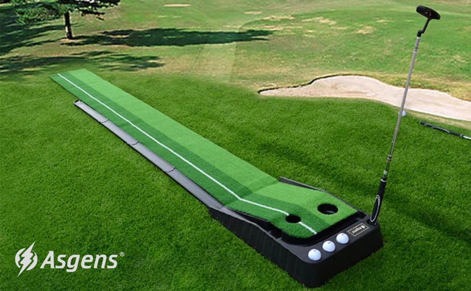 Amazon.com : Asgens Golf Putting Trainer, Indoor/Outdoor Golf Auto ...