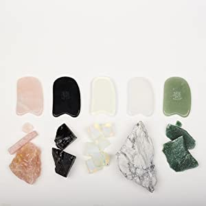 chinese spoon therapy gua sha jade scraping tool acupuncture scraping gua sha for face and neck