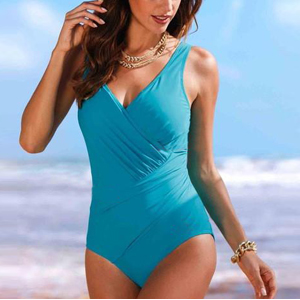 Upopby Women's Tummy Control Monokini One Piece Swimsuit