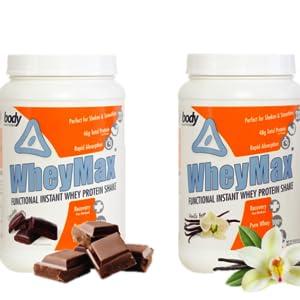 WheyMax, vanilla protein, chocolate protein, whey protein, protein powder, muscle building