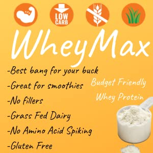 Wheymax, low carb, protein scoop, no fillers