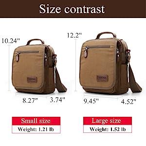 XINCADA Mens Bag Messenger Bag Canvas Shoulder Bags Travel Bag Man Purse Crossbody Bags for Work Business