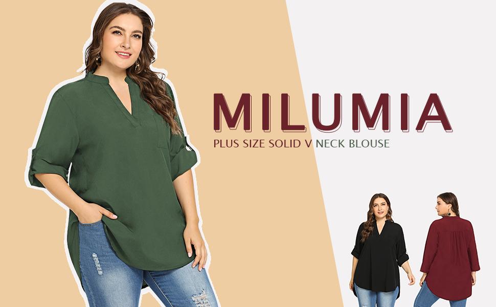 Milumia plus size blouse