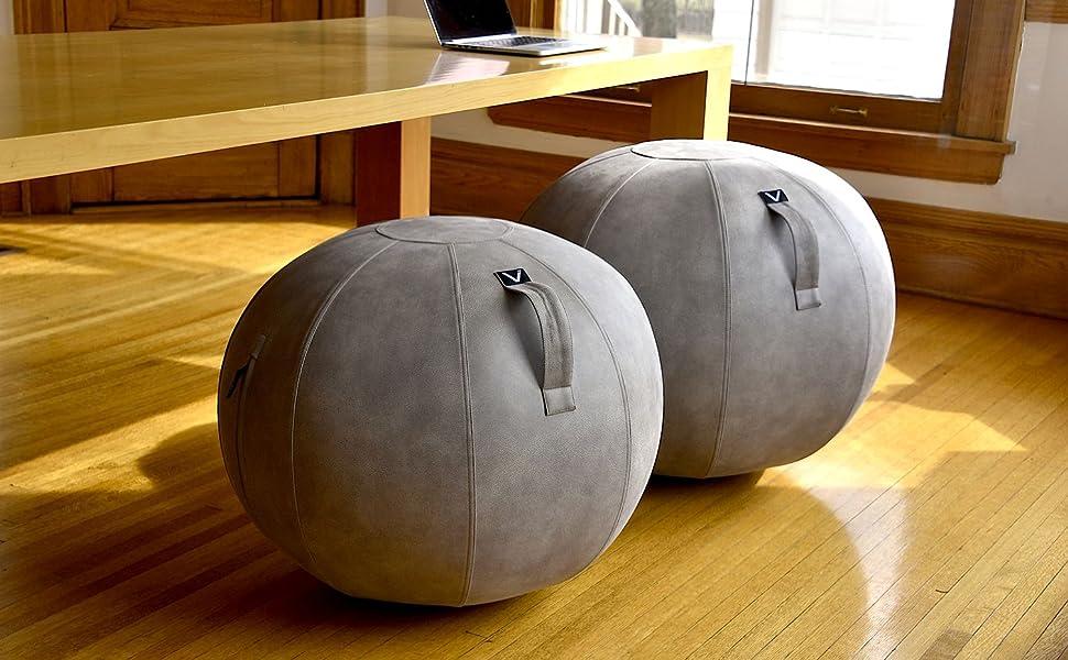 ball chair sitting seat active yoga stool ottoman vivora luno round fitness focus fidget sphere desk