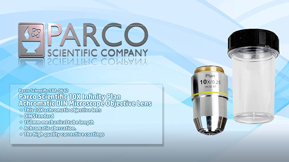 Parco Scientific 10X Infinity Plan Achromatic Microscope Objective