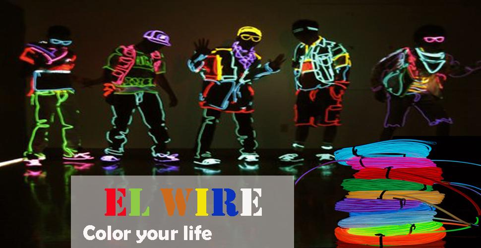 Amazon.com: 5-Pack El Wire Set, Multi-Color ( Blue,Green, Red,White ...