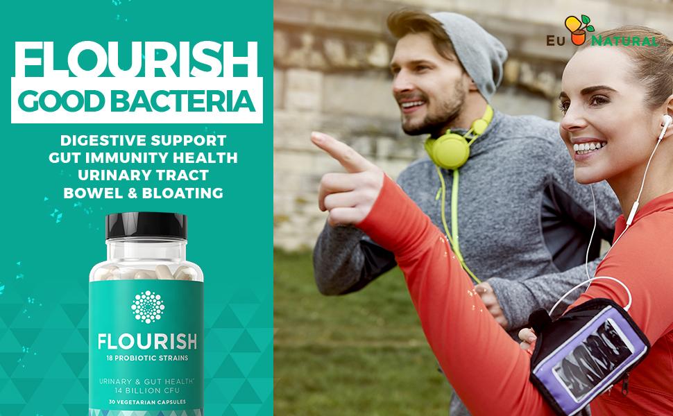 FLOURISH Probiotics Gut Digestive Immunity