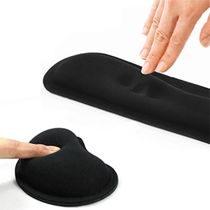 Wrist Rest for Computer Keyboard and Mouse Pad Support Memory Foam Set
