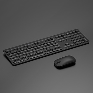ergonomic rechargeable wireless keyboard mouse black (3)