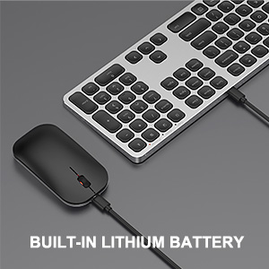 full size aluminum rechargeable wireless keyboard mouse (4)