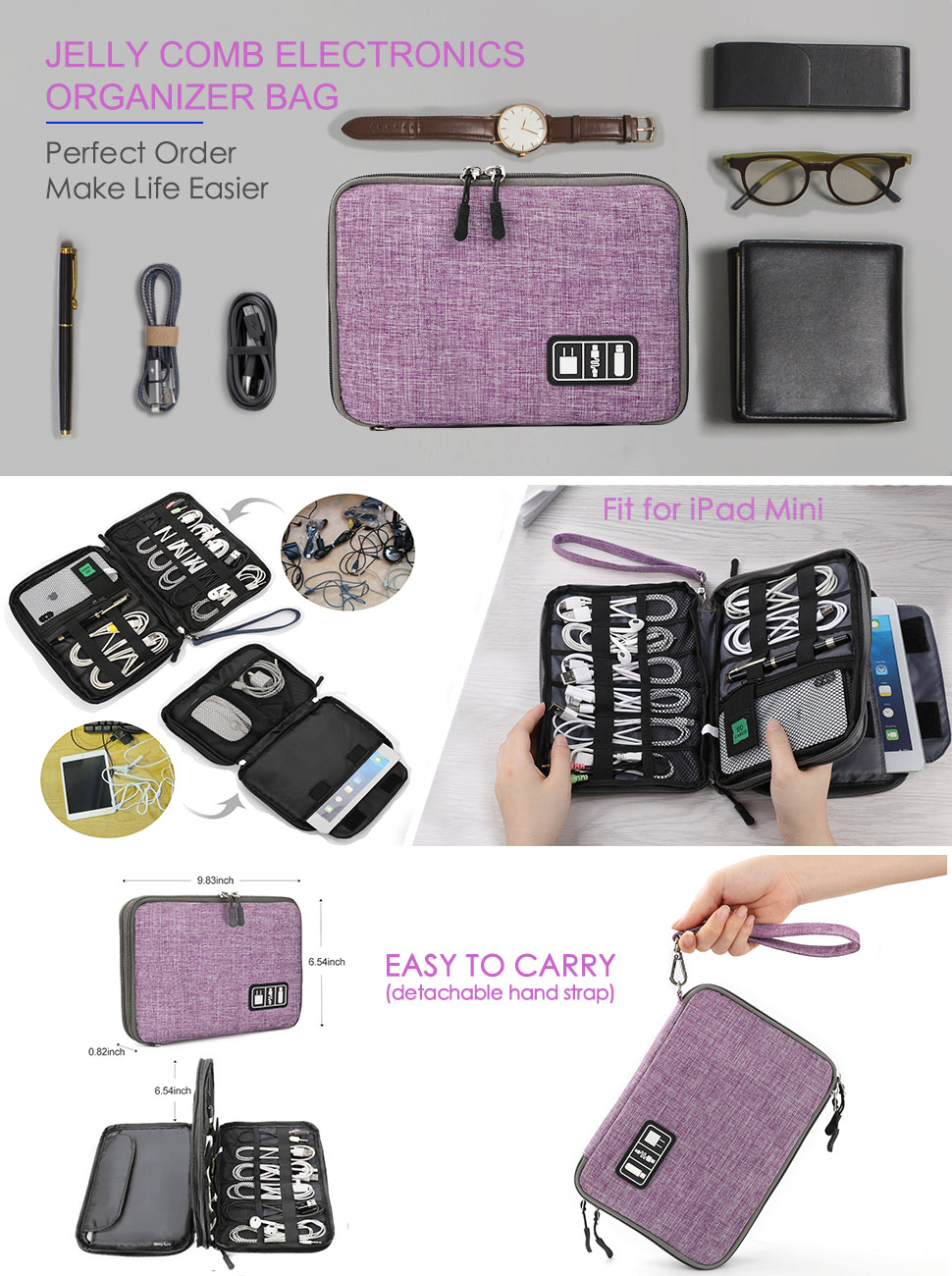 Travel Cable Organizer Bag