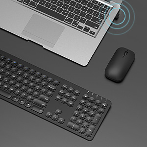 ergonomic rechargeable wireless keyboard mouse black (4)