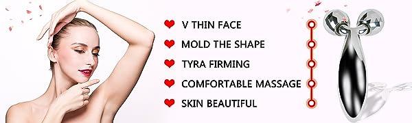 3d facial massager roller