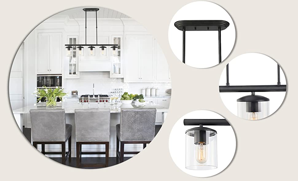 Light Kitchen Island With Adjustable Height Dimmable