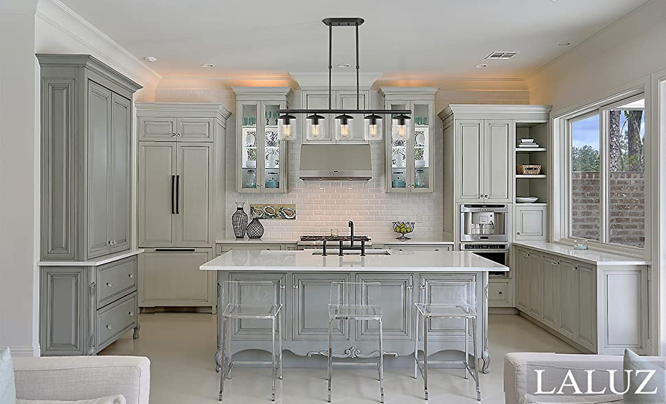Laluz 5 Light Linear Pendant Lighting Transitional Kitchen