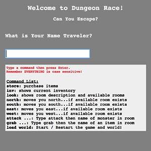 dungeon race python