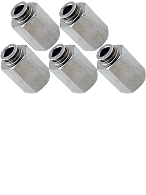 Straight Pneumatic Fitting for 1//4 OD Hose Bundle of Four Fittings VXA7149-4 PTC Vixen Air 1//4 NPT Female Push to Connect