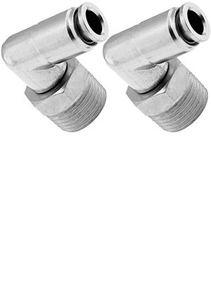 2PK Vixen Air VXA2324-2 3//8 NPT-1//4 OD PTC Elbow