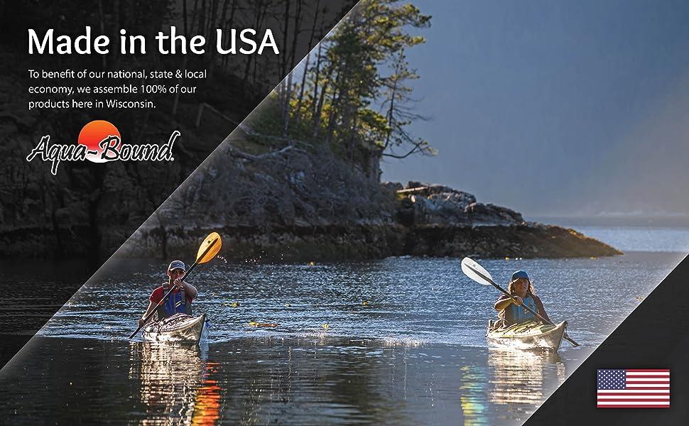 Aquabound stingray kayak paddle kayaking made in usa value quality
