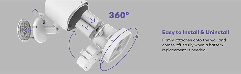 VAVA Motion Sensor Spotlight IP65 Waterproof Outdoor Fully Adjustable Battery