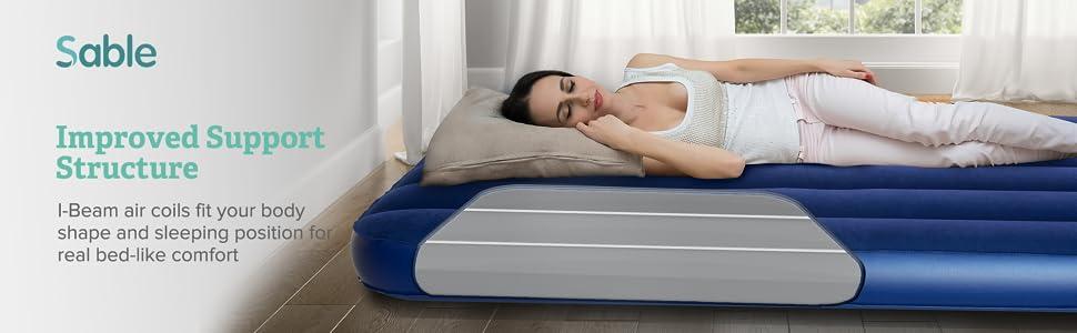 Amazon.com: Sable colchón de aire, cama hinchable para ...