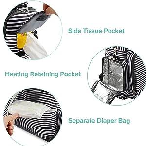 Amazon.com: Mochila de pañales para cuidado del bebé ...