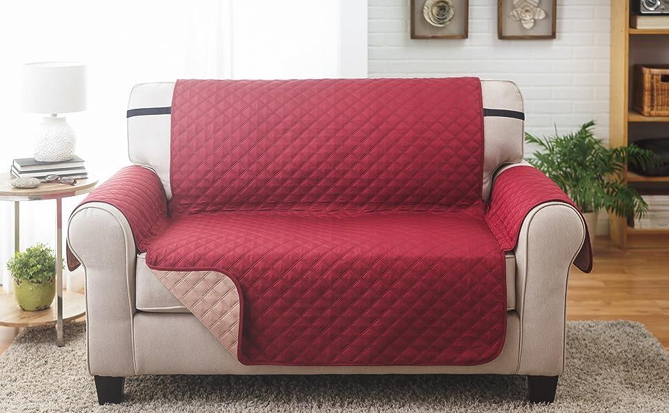 Amazon.com: Protector de muebles LoveSeat reversible: Home ...