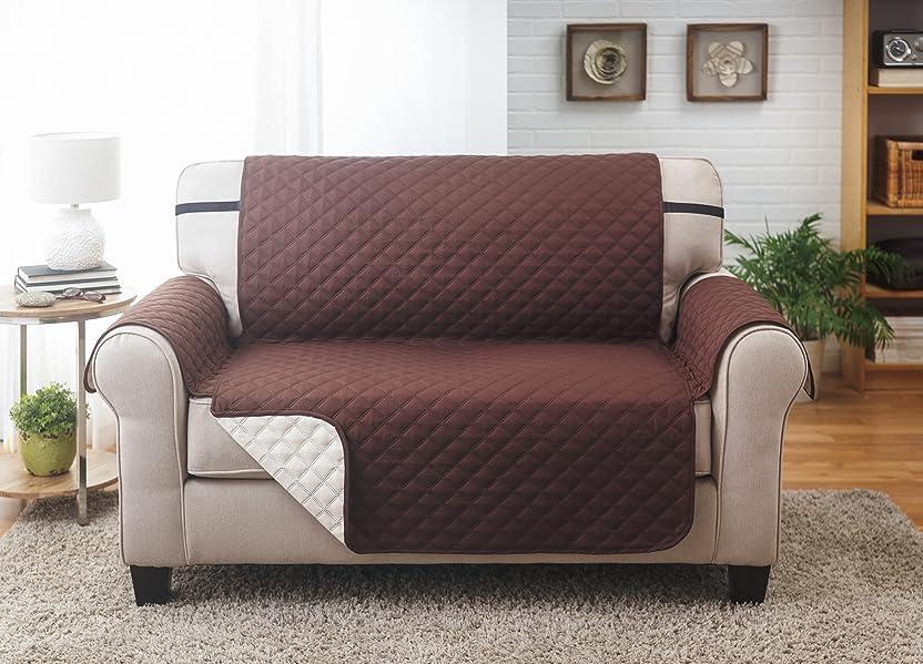 amazon com deluxe reversible loveseat furniture protector coffee rh amazon com sofa furniture protector cover sofa furniture protector slipcover