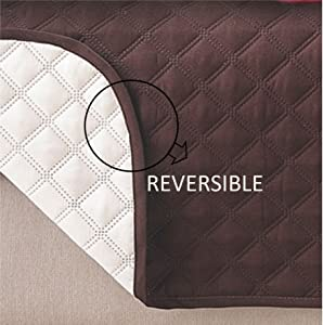 Deluxe Reversible Sofa Furniture Protector, Black / Grey - 75