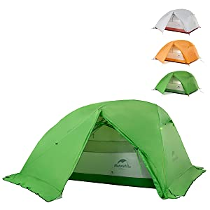 green orange gray tent