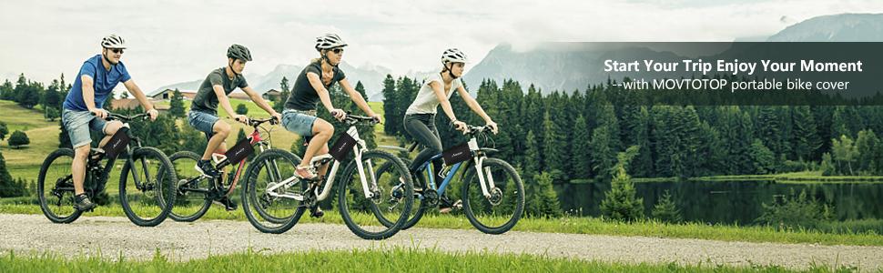 MOVTOTOP Waterproof Bike Bicycle Motorcycle Cover Rain Dust UV Protector Storage