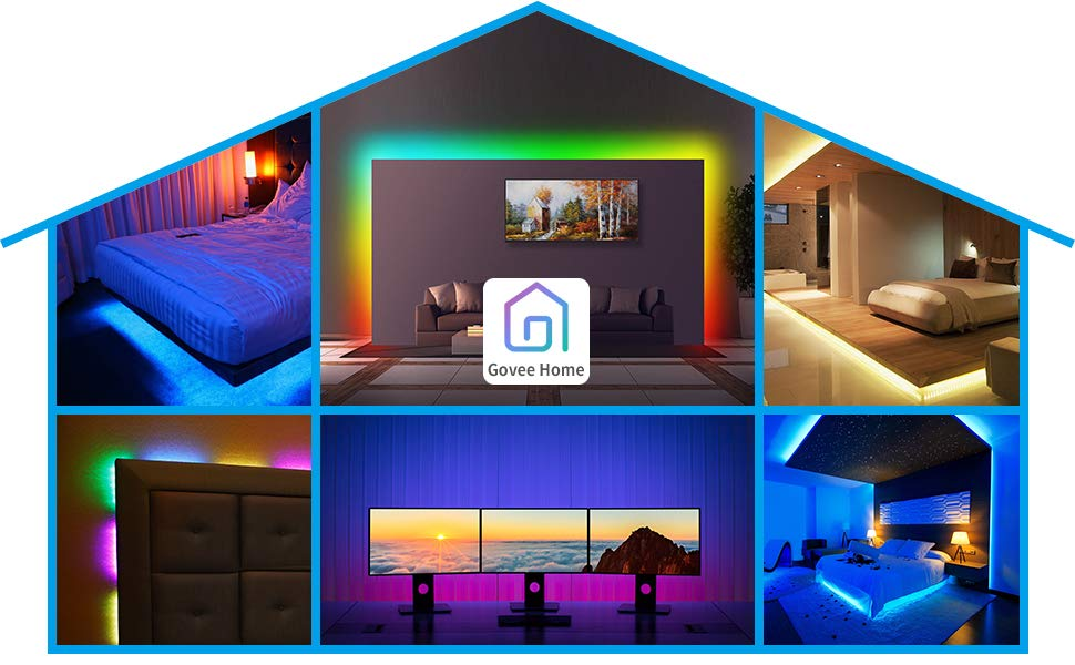 Govee Dreamcolor Led Strip Lights Music Sync 16 4ft Waterproof Phone Controlled Color Changing Light Strip For Party Room Bedroom Tv Kitchen