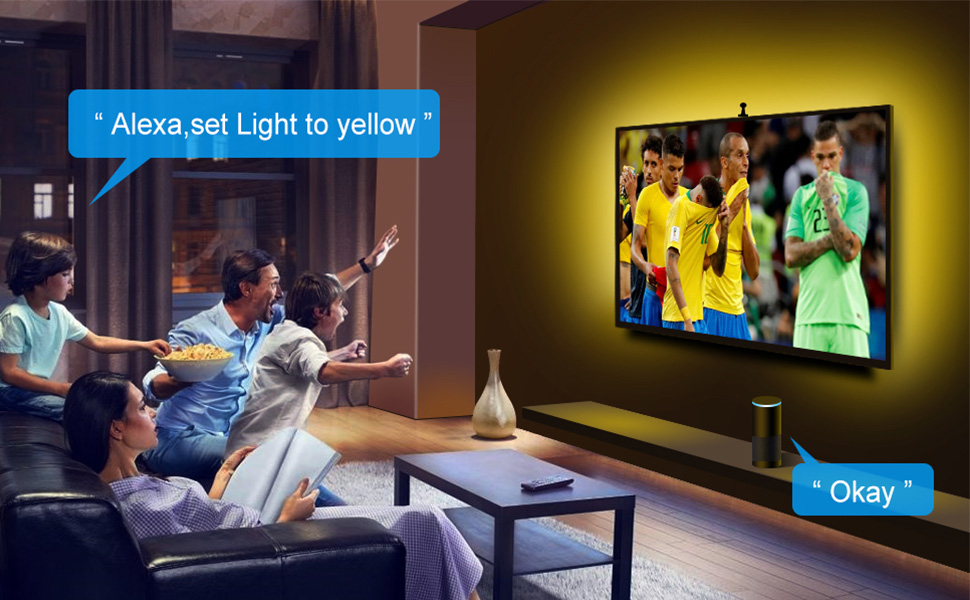 WiFi LED TV Backlights with Camera