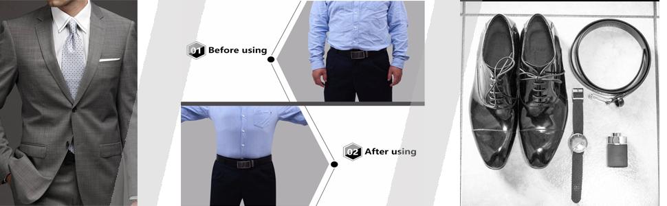 Men Shirt Stays Shirt Lock Belt Adjustable Elastic Shirt Holder  Shirt Tucked in  Police Military