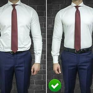 Men Shirt Stays Shirt Lock Belt Adjustable Elastic Shirt Holder Keeps Shirt Tucked in for Police