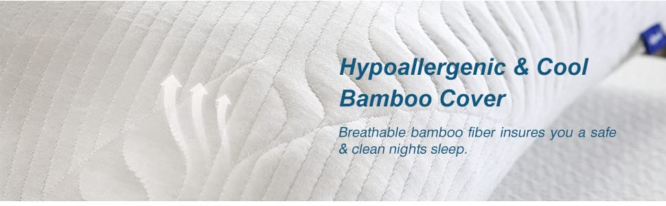 Hypoallergenic & Cool Bamboo Cover