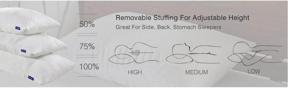 Removable Stuffing For Adjustable Height