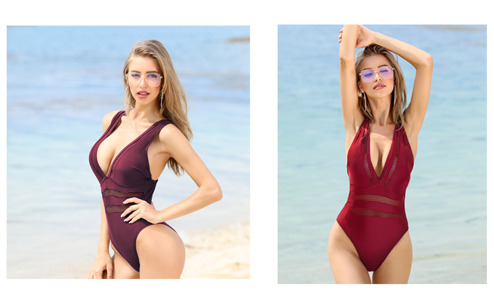 hollow out one piece swimsuits