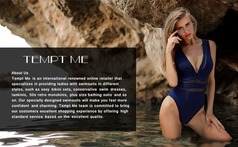 Tempt Me Women One Piece Plunge V Neck Monokini Sexy Hollow Out Swimsuits Bathing Suit