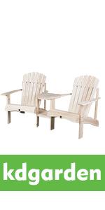 Cedar/Fir Log Tete-A-Tete