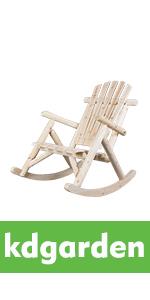 Cedar/Fir Log Adirondack Rocking Chair