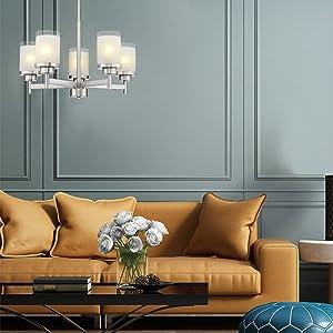 5 light chandelier main