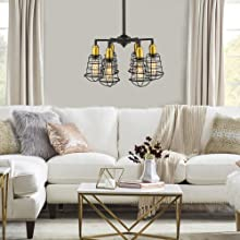 floral pattern 6light pendant light