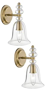 Gold Wall Light 2 Pack