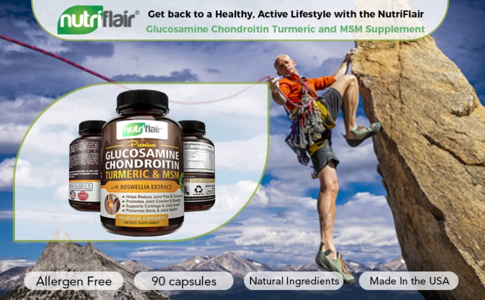 ☀ Glucosamine Chondroitin Turmeric & MSM with Boswellia - Complete Joint Pills 2