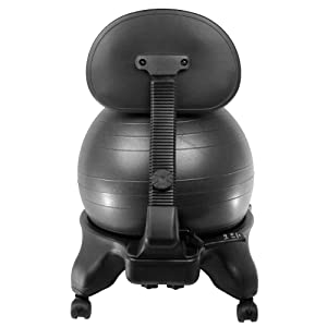 We were the first to bring the adjustable back ball chair to the US market. Our version includes 60mm, office size wheels and a 52cm ball.